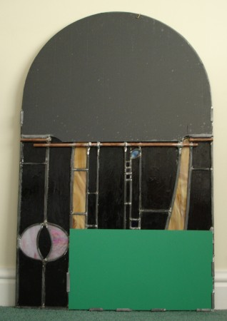 Leaded up the Rennie Mackintosh Mirror back
