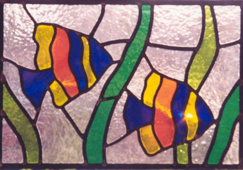 Tropical Fish. My first leaded panel