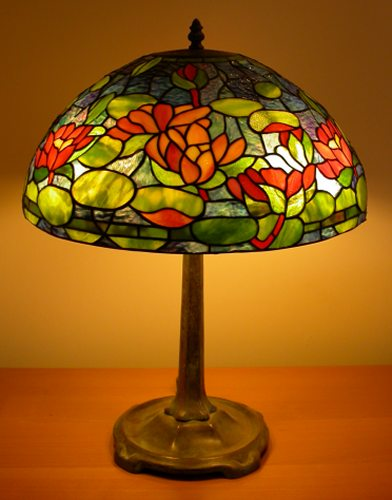 Water Lily Tiffany Lamp